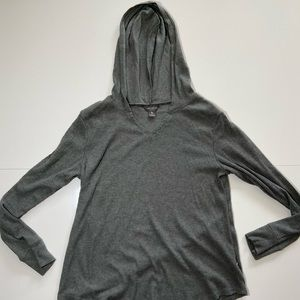 Eddie Bauer Gray L/S Hooded Soft Thermal Sweater